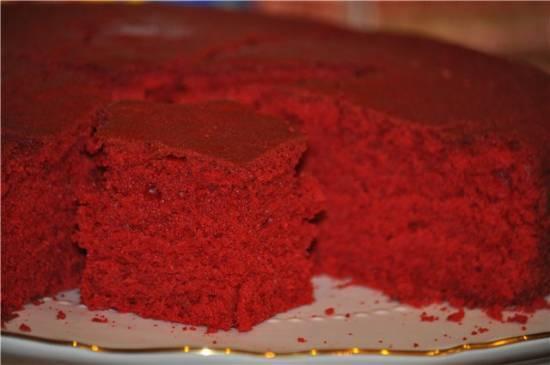 Бисквит красный бархатный, или Красный вельвет