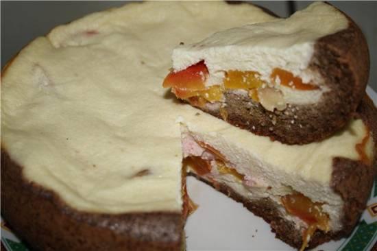 Творожно-ореховый пирог с нектаринами