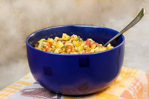 Кабачок маринованный, быстрый салат (спиромант)