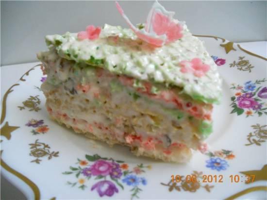 """Торт """"Нежность"""" с нугой"""