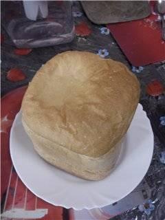 Простой пшеничный на пиве в хлебопечке