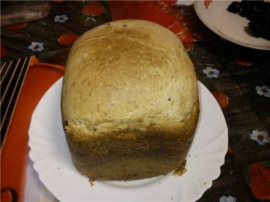 Ананасовый с черносливом сдобный в хлебопечке