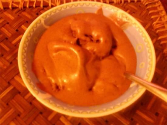 Мороженое шоколадно-банановое