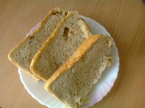 Пшенично-ржаной дарницкий хлеб на меду (хлебопечка)