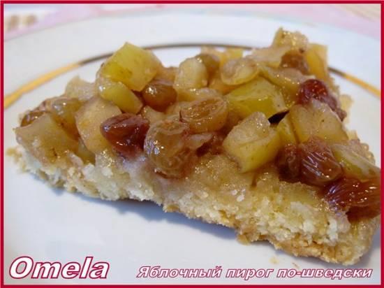 Яблочный пирог по-шведски