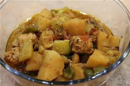 Курица с овощами пикантная (Moulinex Minute Cook CE4000)