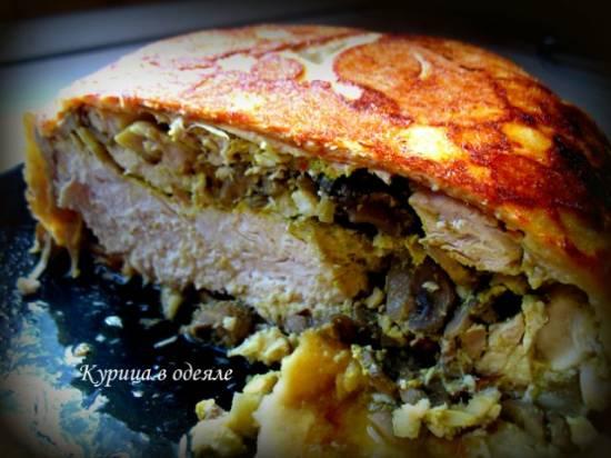 Курица с гречкой в чесночно-сливочном соусе (мультиварка)