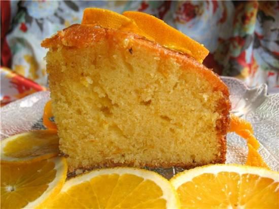 Апельсиново-кукурузный пирог