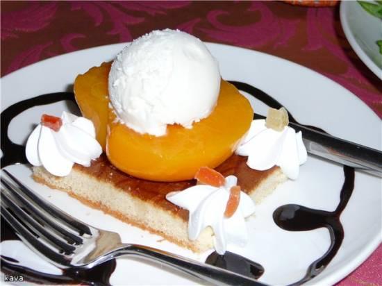 Десерт в ресторанном стиле