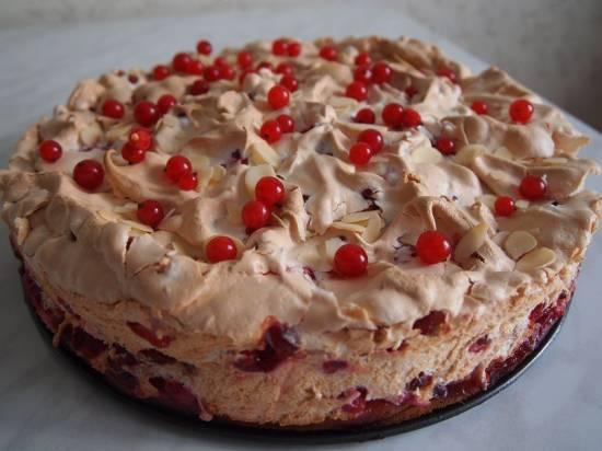 Швабский пирог со смородиной (красной)