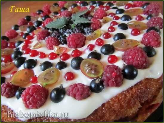 Пирог ягодный открытый
