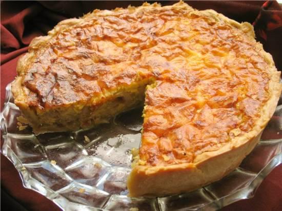 Французский луковый пирог