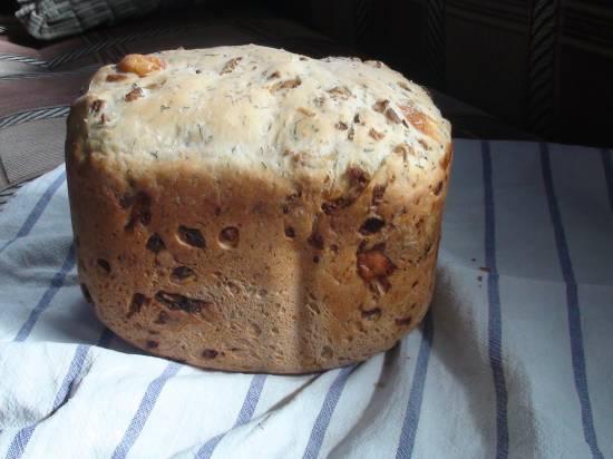Хлеб с пармезаном, сухими травами и отрубями