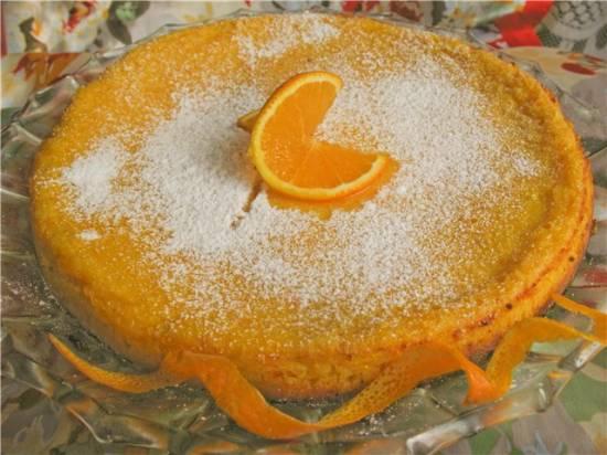 Нежный пирог Апельсиновое солнышко