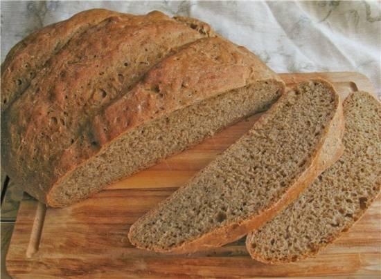 """Ароматный хлеб в духовке (по мотивам хлебобулочной смеси """"Пудовъ"""")"""