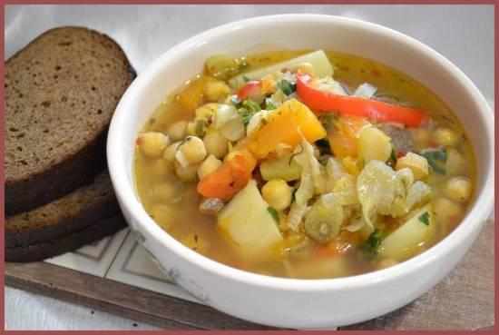 Суп из баранины с нутом, фенхелем и тыквой