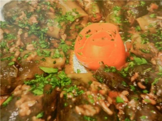 Фаршированные баклажаны с грибами