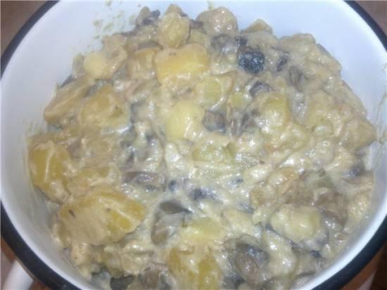 Жаркое из картофеля и шампиньонов (Panasonic SR-TMH181)