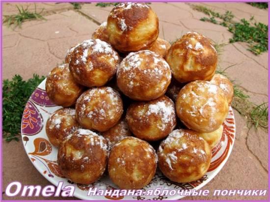 Нандана – яблочные пончики (в такоячнице)
