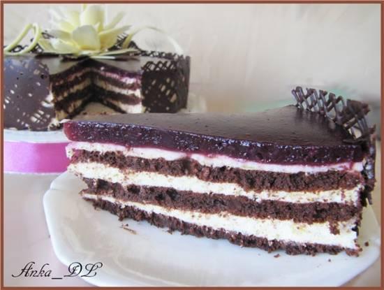 Торт с клюквой