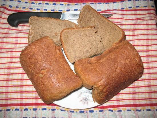 Сибирский хлеб из пяти видов муки (хлебопечка LG)