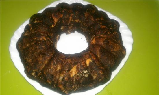 Волнистый кэробовый торт