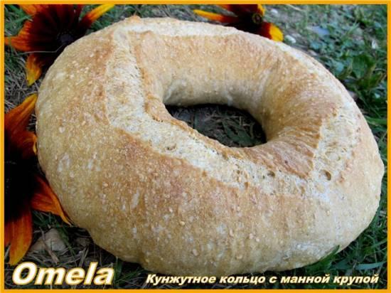 Кунжутное кольцо с манной крупой (в духовке)