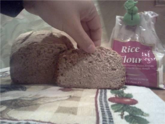 Пшенично-рисовый хлеб с маком