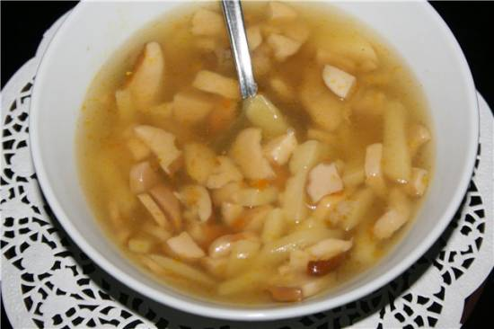 Грибной суп с гречкой (мультиварка Brand 701)