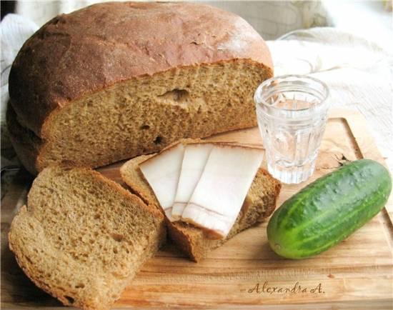Легкий пшенично-ржаной хлеб (духовка)