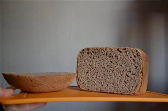 """Хлеб на ржаной """"Вечной"""" закваске из цельнозерновой муки в хлебопечке"""