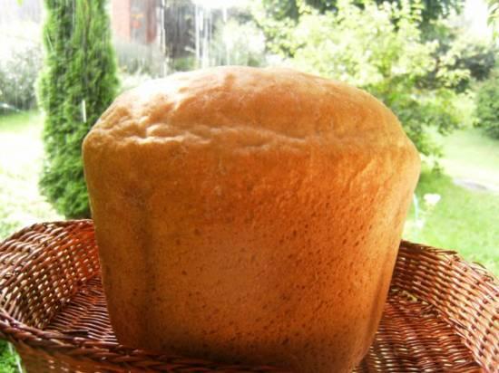 Пшеничный  хлеб  для тостов (хлебопечка)