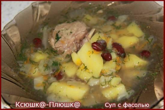 Суп с фасолью (скороварка Brand 6050)