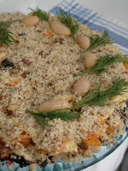 Салат «Праздничный» с фасолью слоеный