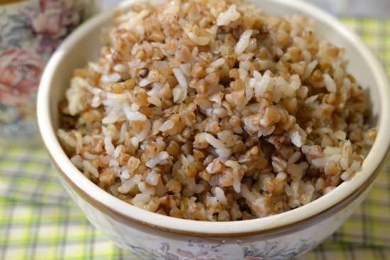 Каша гречнево-рисовая в скороварке Oursson