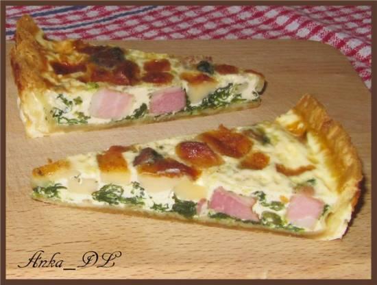 Тарт со шпинатом и козьим сыром (Spinach and Goat Cheese Tart)