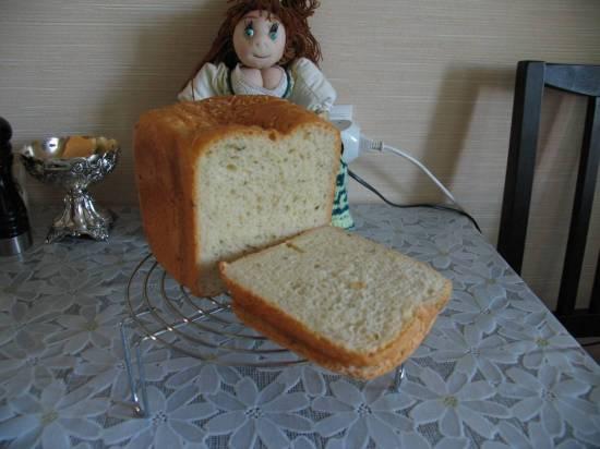 Panasonic SD-2501. Сырный хлеб с зеленью