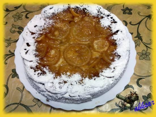 """Кекс """"Опрокинутый"""" с лимоном и кукурузной крупой"""