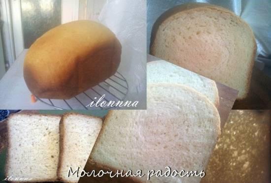 Хлеб Молочная радость в хлебопечке DAEWOO DI 9154
