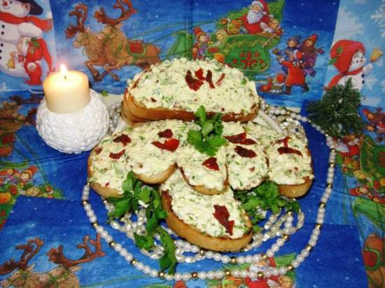 """Бутерброды из яичной массы """"Новогодние"""""""