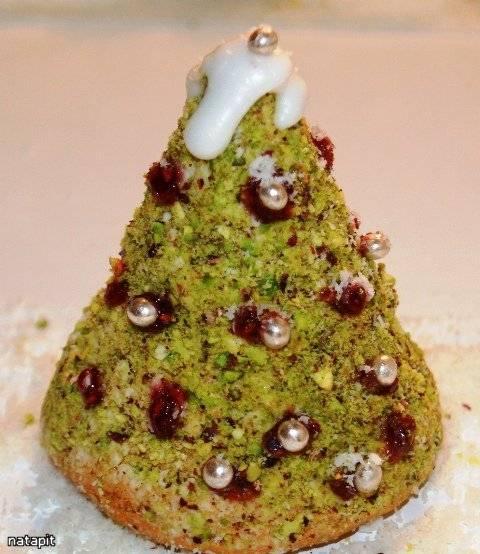 """Бисквитное пирожное """"Рождественская Елочка"""" (съедобные подарки) Бисквитное пирожное """"Рождественская Елочка"""" (съедобные подарки)"""
