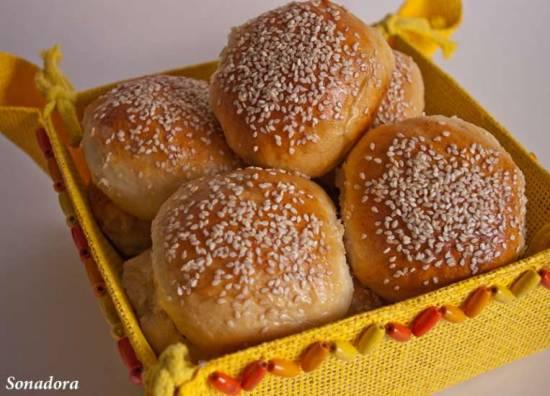 Картофельные булочки с печеным чесноком Картофельные булочки с печеным чесноком