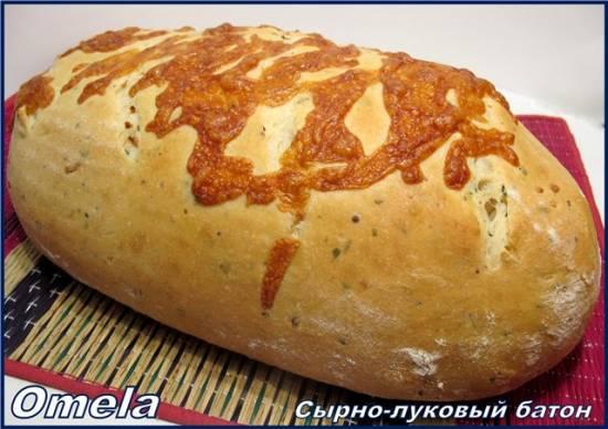 Сырно-луковый батон (в духовке)