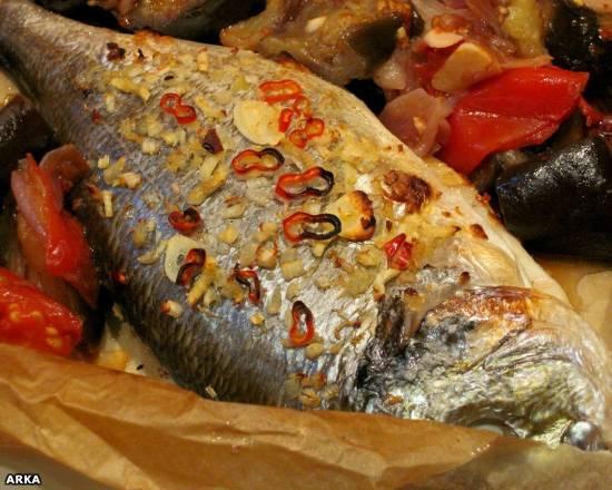 Рыба (дорада) в конверте