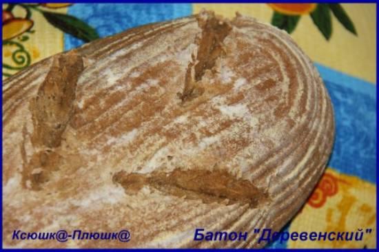 Батон Деревенский (хлебопечка + духовка)