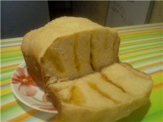 Хлеб пшеничный на сметане с сыром