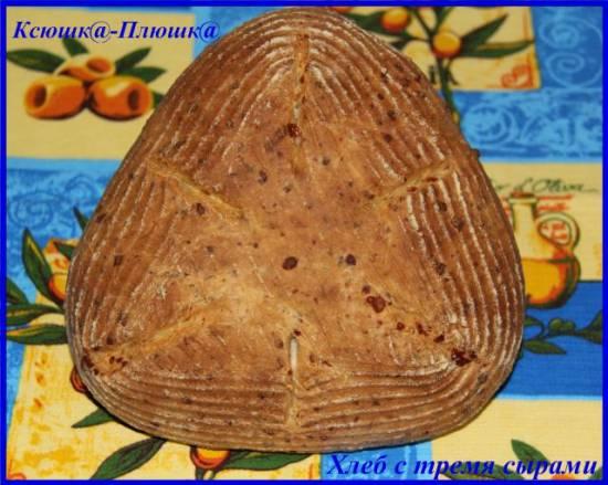 Хлеб с тремя сырами по Дж.Шаптер (духовка)