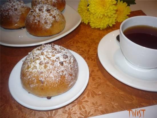 Ромово-йогуртовые булочки с изюмом