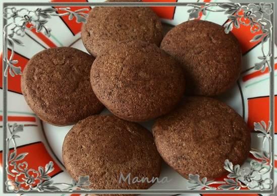 Кексики шоколадные манные