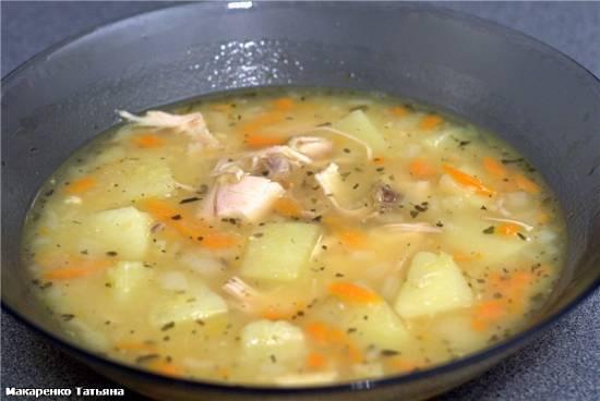Суп гороховый в  скороварке Oursson 5005